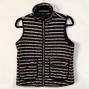 Striped Puffer Vest